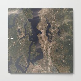 Pudget Sound, Seattle & Tacoma Metal Print