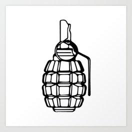 Grenade Art Print