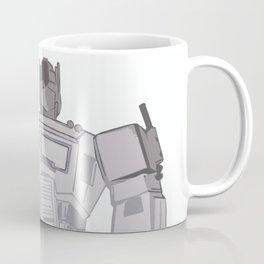 Optimus Black and White Coffee Mug