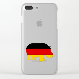 German Flag - Hippo Clear iPhone Case