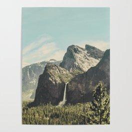 Yosemite Valley Waterfall Poster