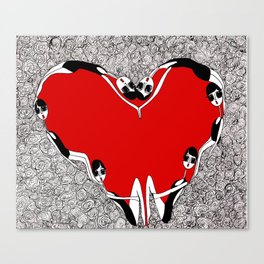 make a heart Canvas Print