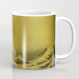Golden Japanese Great Wave off Kanagawa by Hokusai Coffee Mug
