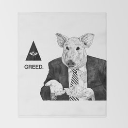 SEVEN DEADLY SINS : GREED. Throw Blanket