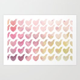Thunder Clatter Heart Print Art Print