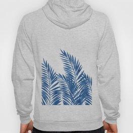 Palm Leaves Dark Blue Hoody
