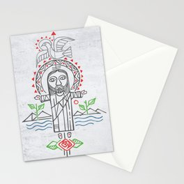 Jesus Christ in indigenous style Stationery Cards