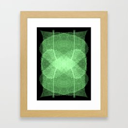 Modern Mint Green Digital Leaf Design Framed Art Print