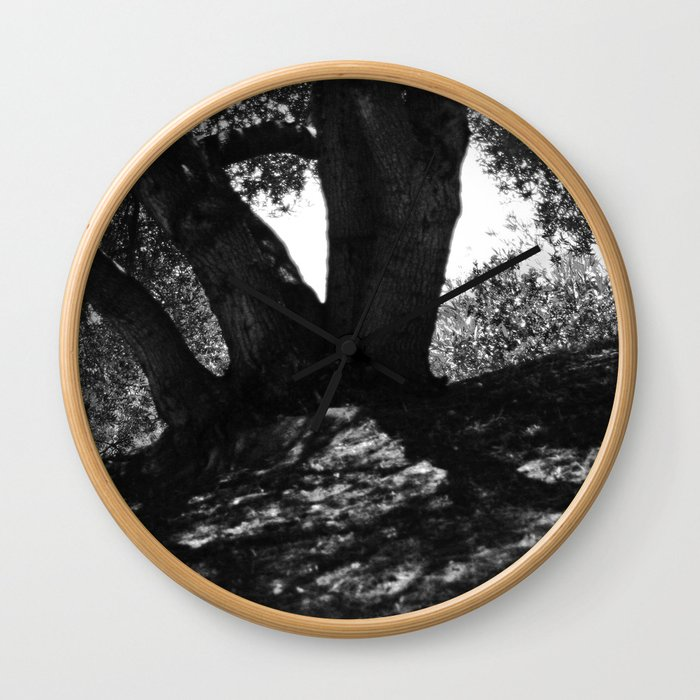 Tree shade in a hot summer day Wall Clock