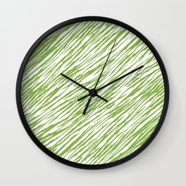 Scratch Greenery - Pantone 2017 Color of the Year Wall Clock