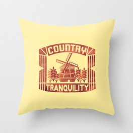 COUNTRY TRANQUILITY Throw Pillow