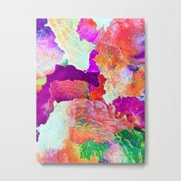 Abstract Melt I Metal Print