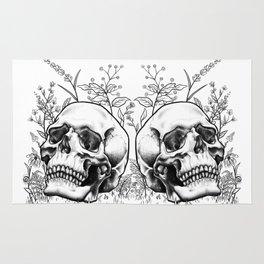 Floral Skull Rug