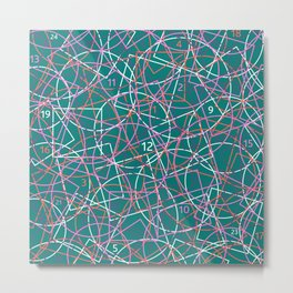 Geometry and math abstract pattern Metal Print