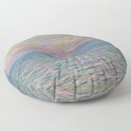 """Claude Monet """"Coucher de soleil à Pourville, pleine mer"""" Floor Pillow"""