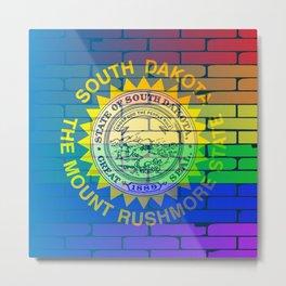 Rainbow Wall Iowa Metal Print