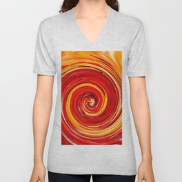 AUTUMN SWIRL Unisex V-Neck