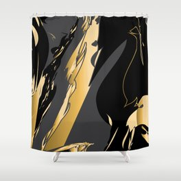Dark and gold marble Shower Curtain
