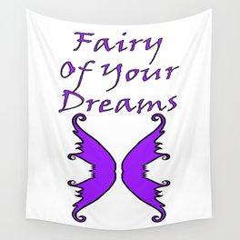 Fairy Of Your Dreams Purple Wall Tapestry