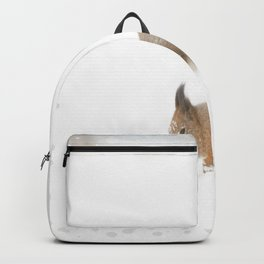 Little squirrel sitting in the snow #decor #society6 #buyart Backpack