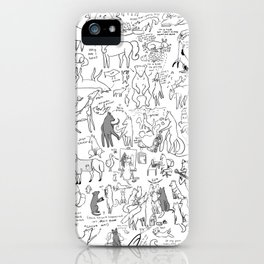 Dogs, Deers, and Doodles iPhone Case