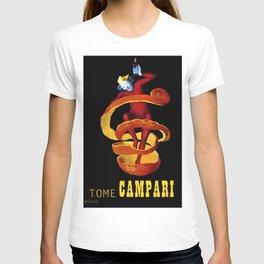Vintage Yellow Motif Tome Campari Aperitif Italian Advertisement by Leonetto Cappiello T-shirt