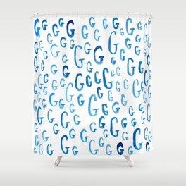 Painted G Shower Curtain