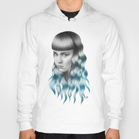 grimes Hoodies featuring Grimes by Nestor
