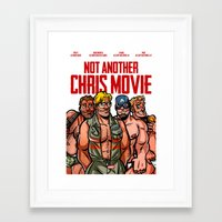 chris evans Framed Art Prints featuring Not Another Chris Movie by Randy Meeks