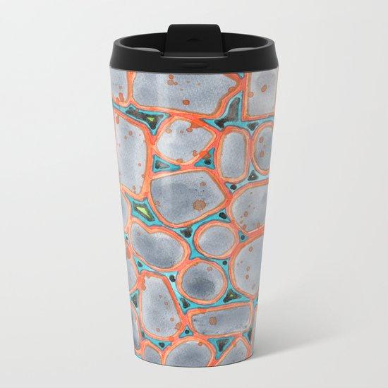 Summer Heat over Refreshing Water Pattern Metal Travel Mug