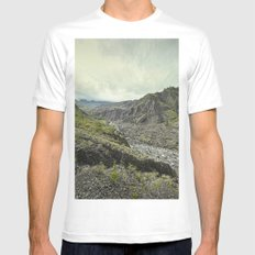 reunion island MEDIUM Mens Fitted Tee White
