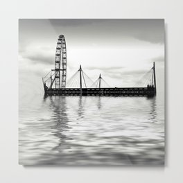 Watery eye (London eye) Metal Print