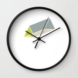 Isometric Form 2d Triangular Prism Geometric Shape Geometry Math Teacher Wall Clock