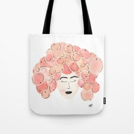 The girl with the tangerine hair. Tote Bag