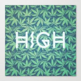 HIGH TYPO! Cannabis / Hemp / 420 / Marijuana  - Pattern Canvas Print