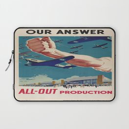 Vintage poster - All-Out Production Laptop Sleeve
