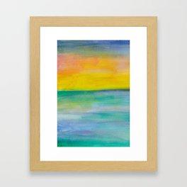Ocean Sunrise Series 1 Framed Art Print