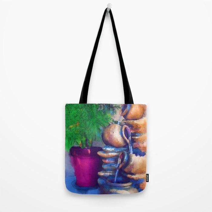 Garden Fountain Tote Bag