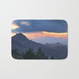 Dream sunset. At the mountains... Bath Mat