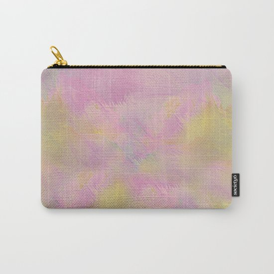 Soft Pastel Feathered Abstract Carry-All Pouch