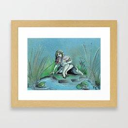 GrimmSeries1 - Frog King Framed Art Print
