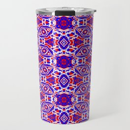 Red, White and Blue Diamonds 242 Travel Mug