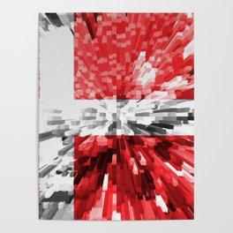 Extruded Flag of Denmark Poster