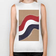 Red White and Blue Biker Tank