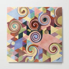 Swirl Deconstruction Metal Print