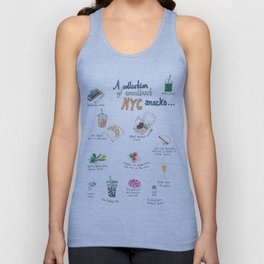 A Collection of Excellent NYC Snacks Unisex Tank Top