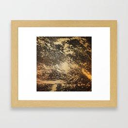 Gold on Black Framed Art Print