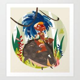 Caipora DIVA Art Print