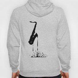 Melting Saxophone Silhouette Hoody