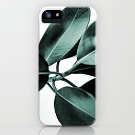 Minimal Rubber Plant iPhone Case